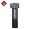 Front view of a 2 inch fine threaded bolt