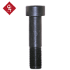 Front view of a 2-1/2 inch fine threaded bolt