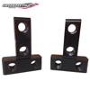 Front view of two quadwheel mounting blocks
